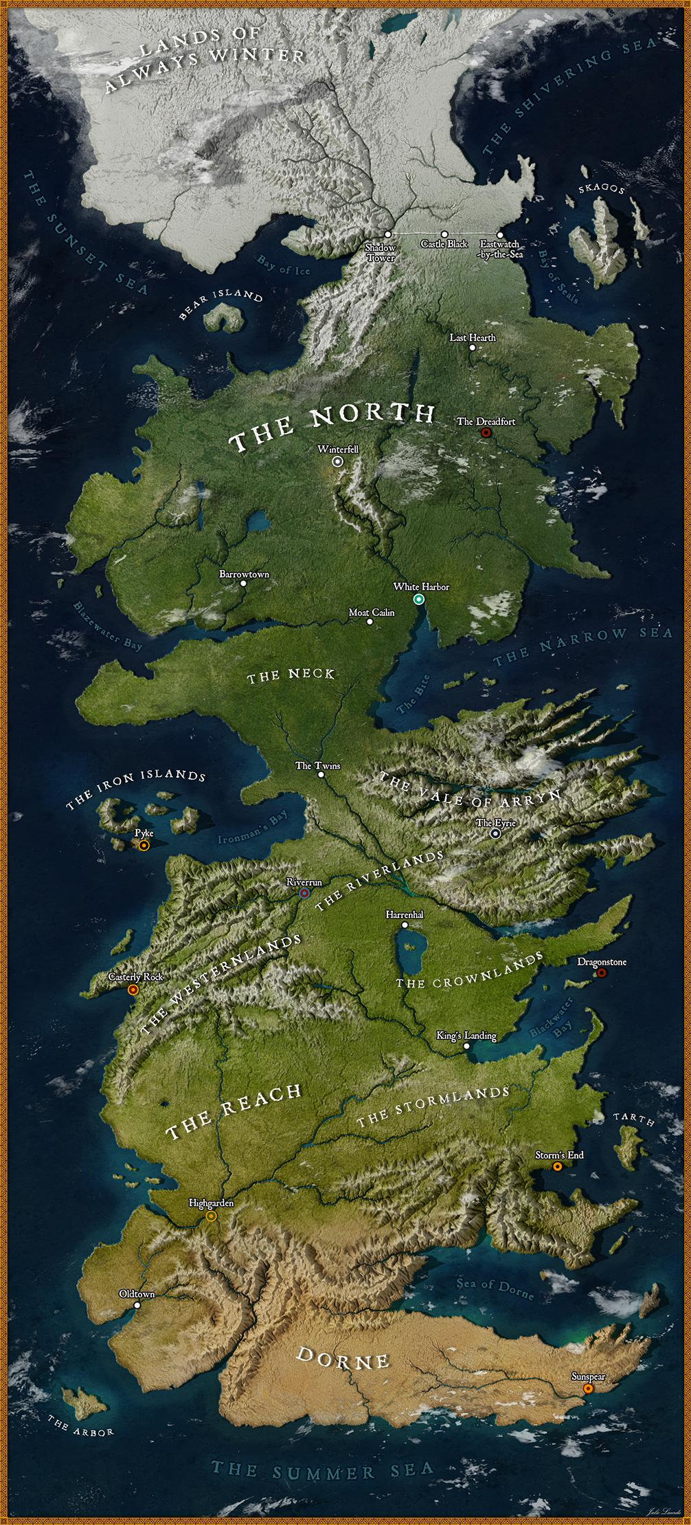 La carte de Game of Thrones en HD 2
