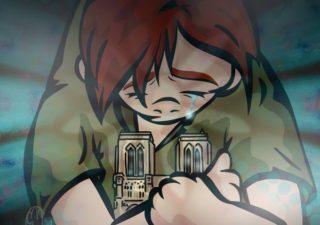 L'incendie de Notre Dame de Paris - Les hommage en illustrations 1
