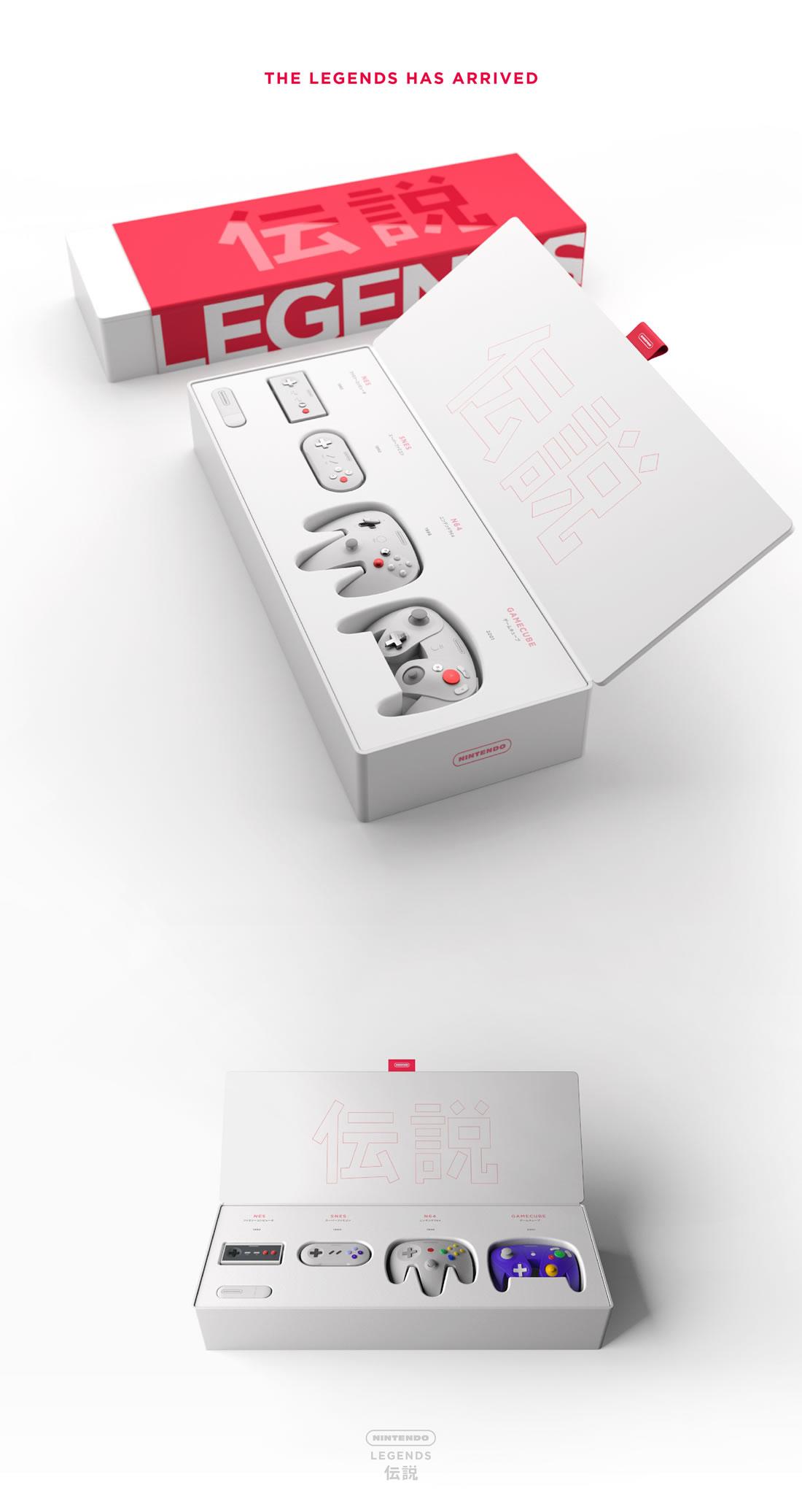 Manettes Nintendo revues minimalistes et design 4