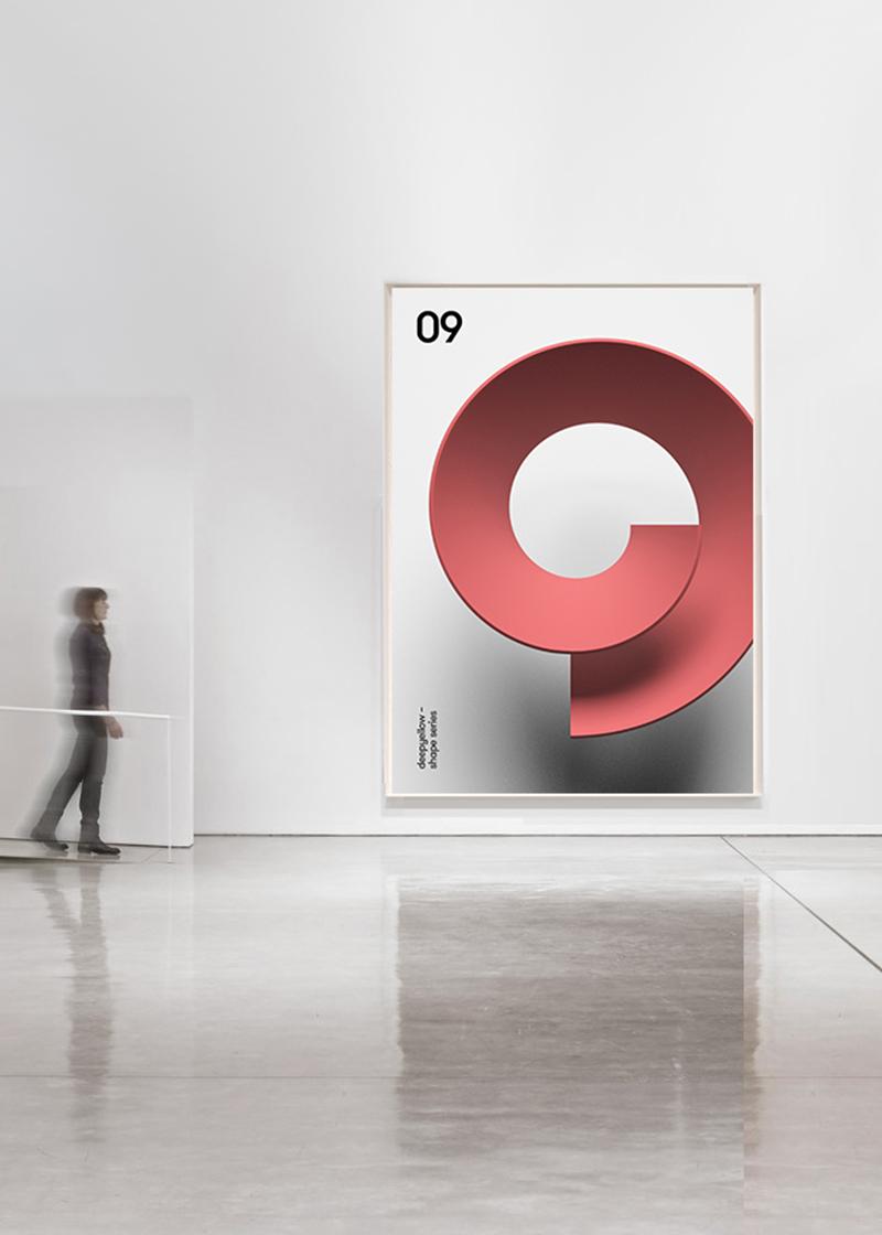Des posters avec un effet de 3D juste avec des couleurs 2