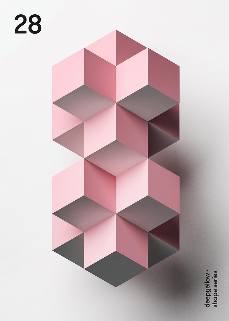 Des posters avec un effet de 3D juste avec des couleurs 4