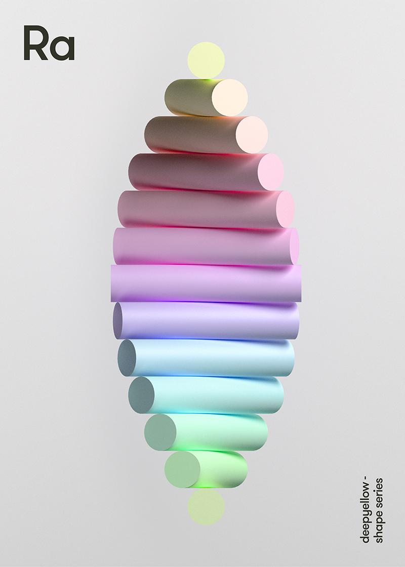 Des posters avec un effet de 3D juste avec des couleurs 6