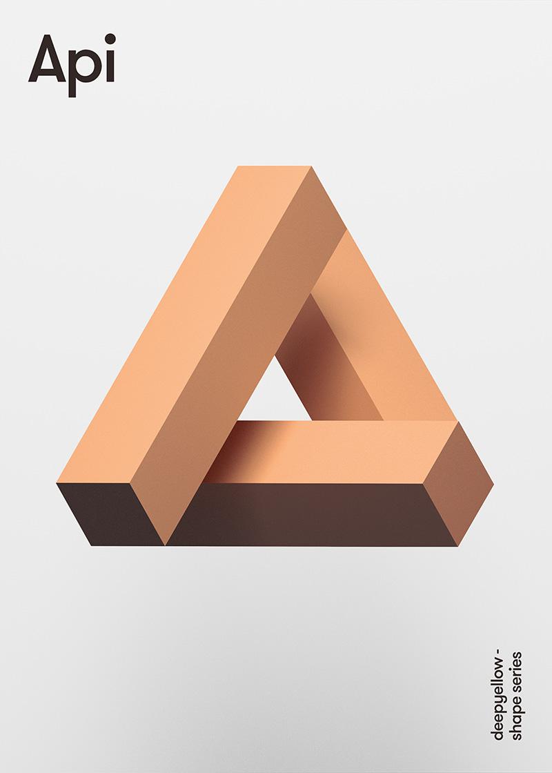 Des posters avec un effet de 3D juste avec des couleurs 8
