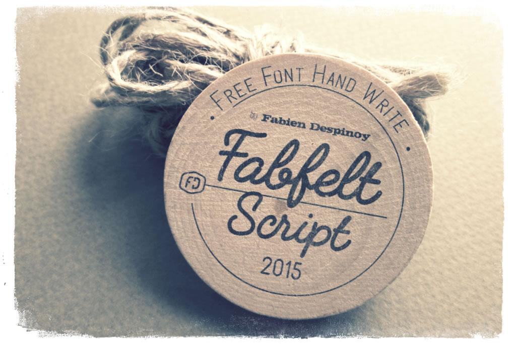 Fabfelt script : Une bien belle typographie gratuite à télécharger 2