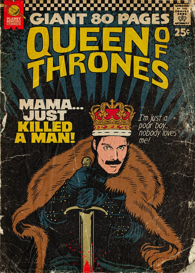 Pop Culture : Illustration de Freddie Mercury en mode comics ! 12