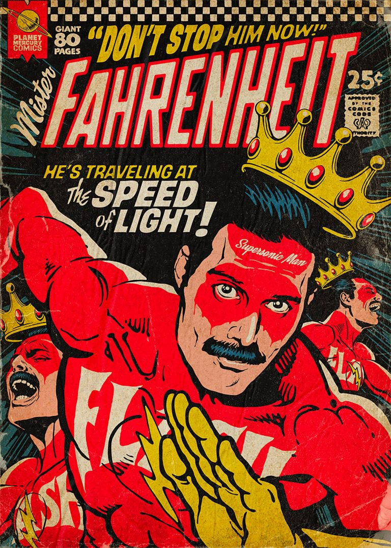 Pop Culture : Illustration de Freddie Mercury en mode comics ! 3