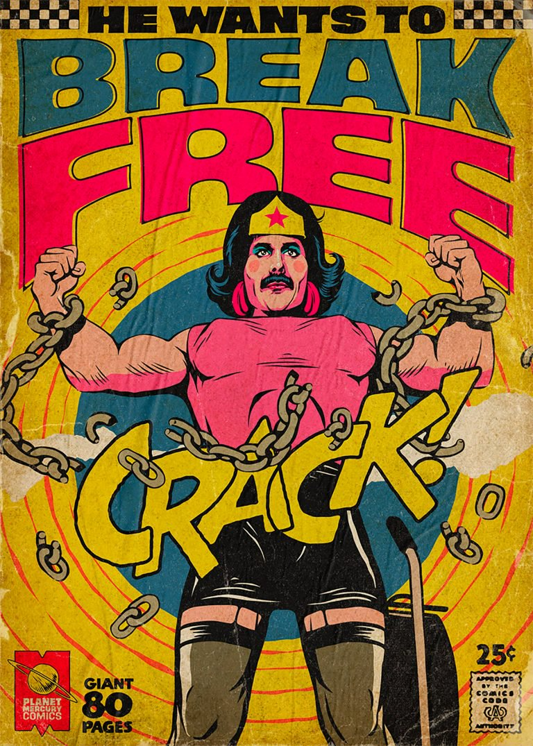 Pop Culture : Illustration de Freddie Mercury en mode comics ! 4