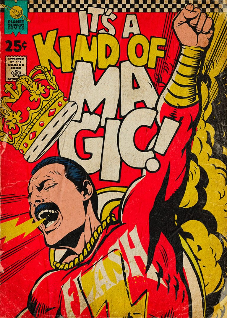 Pop Culture : Illustration de Freddie Mercury en mode comics ! 6