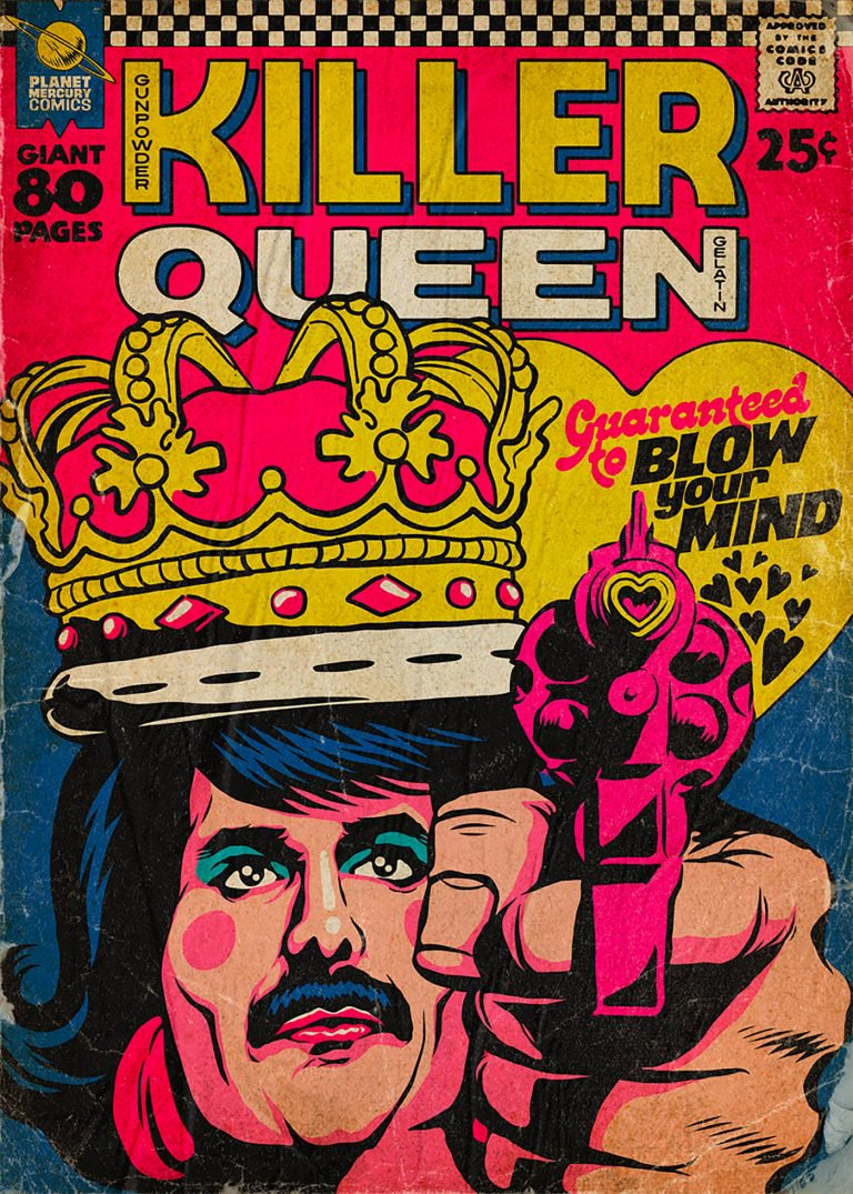 Pop Culture : Illustration de Freddie Mercury en mode comics ! 7