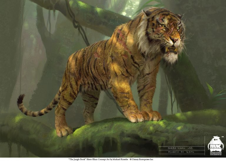Le livre de la jungle en mode Digital painting 2