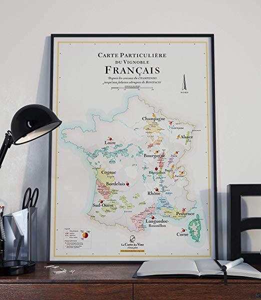 Affiche Carte des Vins de France 4