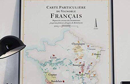 Affiche Carte des Vins de France 2
