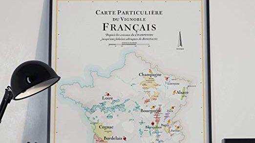 Affiche Carte des Vins de France