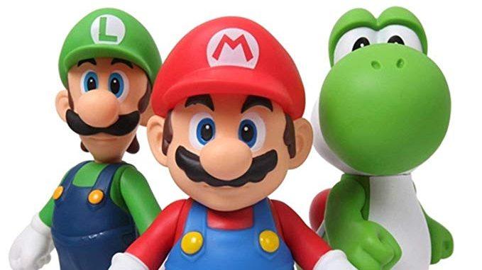 Figurines Mario Bros Luigi Yoshi