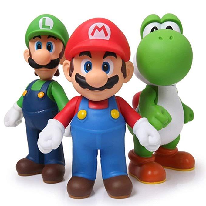 Figurines Mario Bros Luigi Yoshi 4