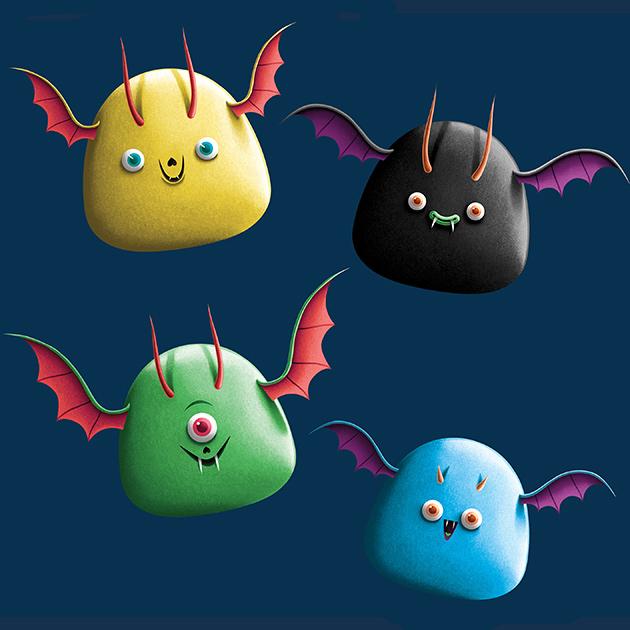 Les bonbons transformés en monstres d'Halloween 4