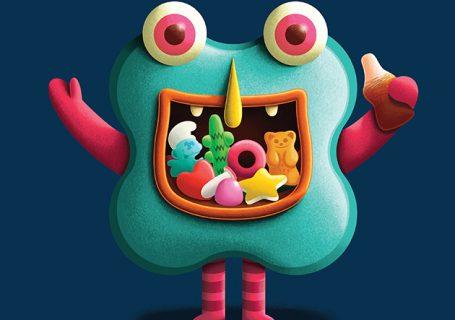 Les bonbons transformés en monstres d'Halloween 1