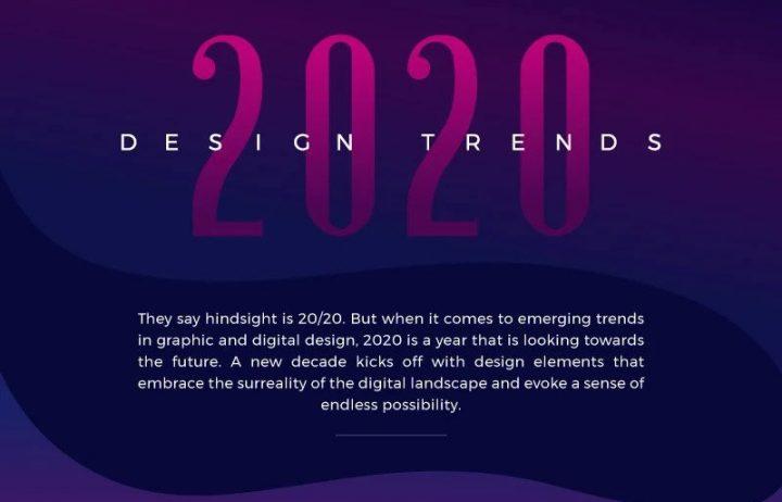 Les tendances graphiques et webdesign pour 2020 2
