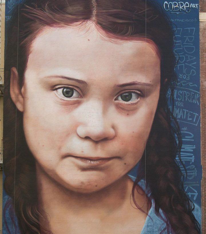 StreetArt - Portrait géant de Greta Thunberg 4