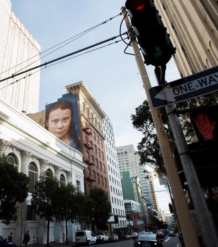 StreetArt - Portrait géant de Greta Thunberg 5
