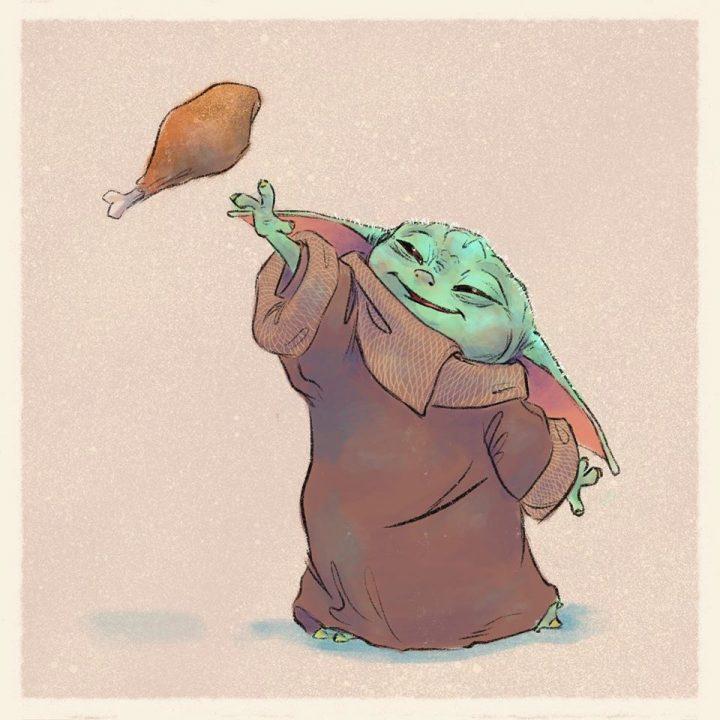 Les illustrations trop mignonnes de Baby Yoda 2