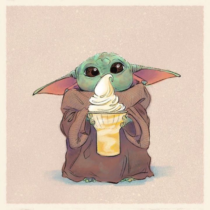 Les illustrations trop mignonnes de Baby Yoda 11