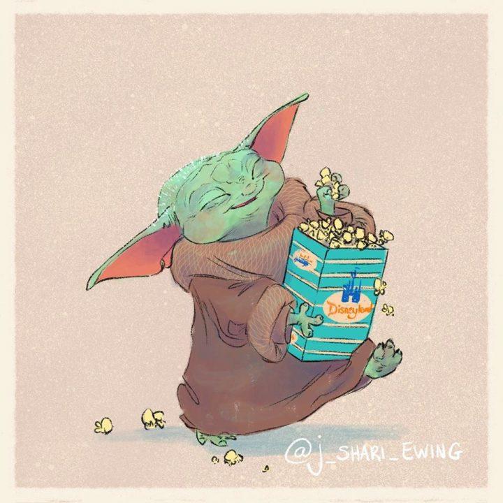 Les illustrations trop mignonnes de Baby Yoda 12