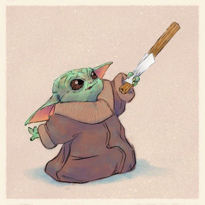 Les illustrations trop mignonnes de Baby Yoda 3