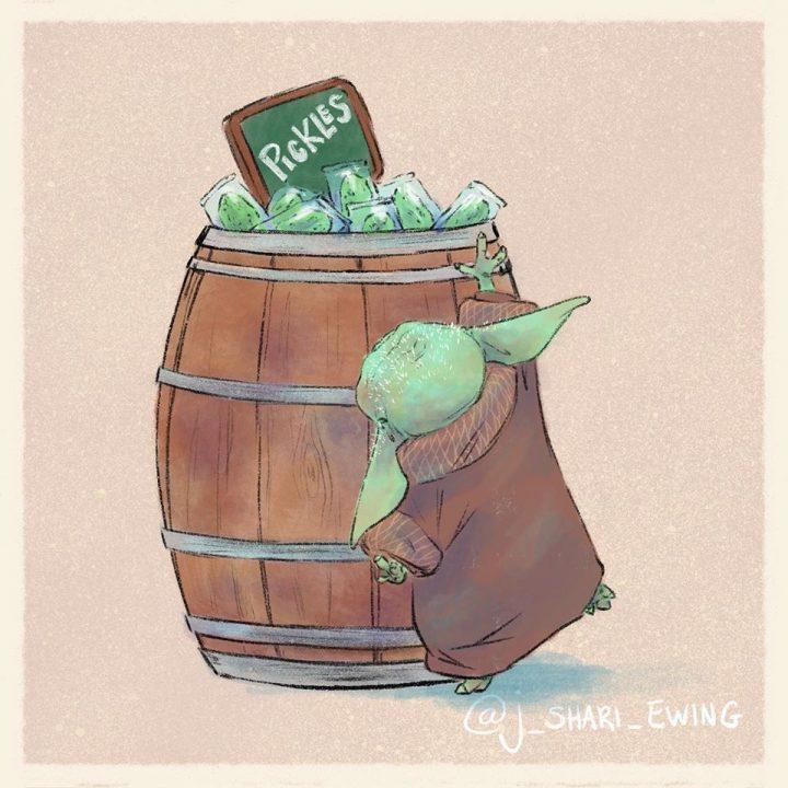 Les illustrations trop mignonnes de Baby Yoda 4