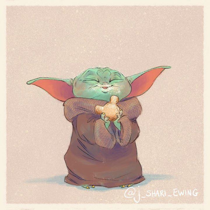 Les illustrations trop mignonnes de Baby Yoda 5
