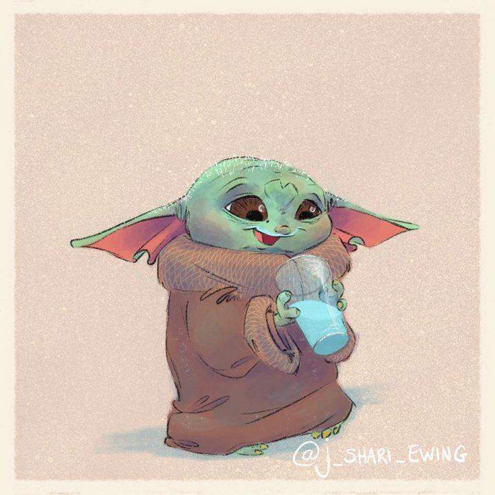 Les illustrations trop mignonnes de Baby Yoda 6