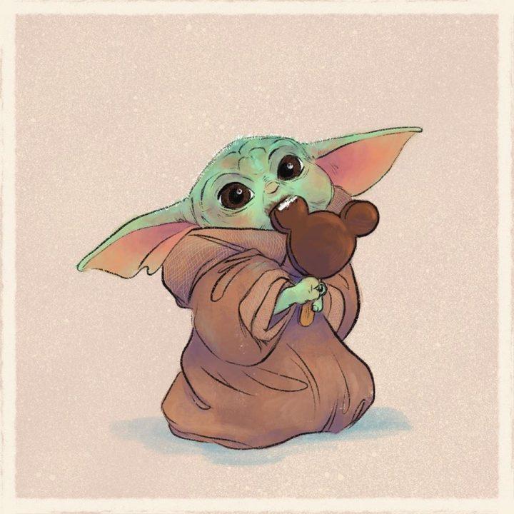 Les illustrations trop mignonnes de Baby Yoda 7