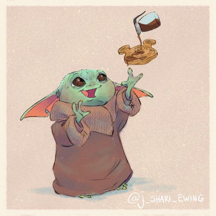 Les illustrations trop mignonnes de Baby Yoda 8