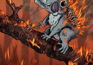 Internet réagit en Dessins aux incendies d'Australie 1