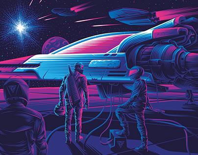 Les méchants style Retrowave néon 5
