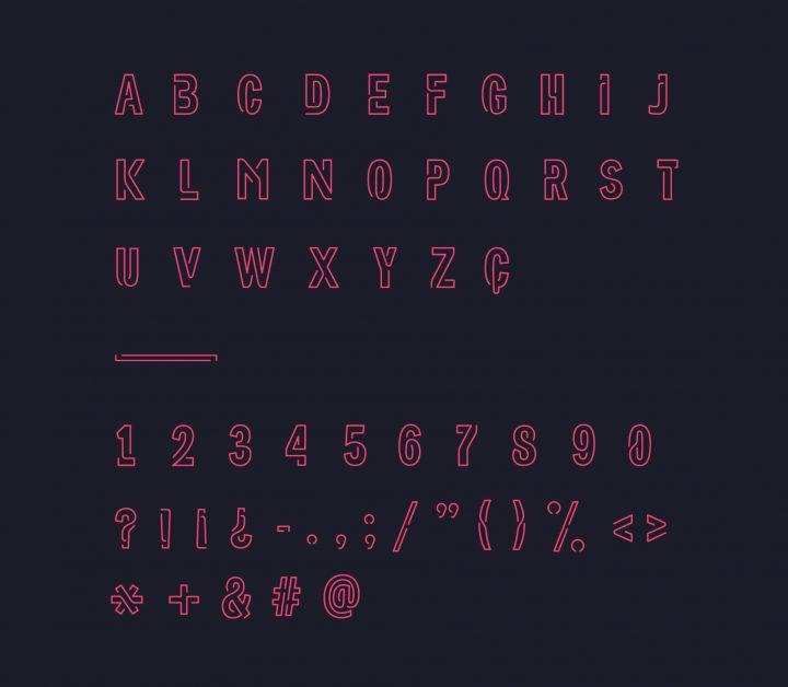 Typographie gratuite : Neoneon 4