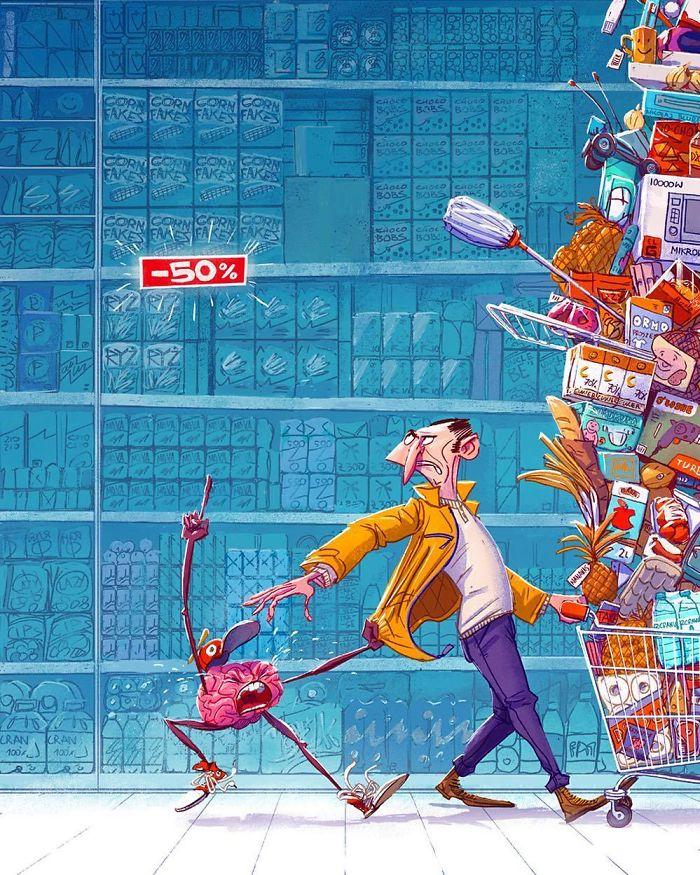 Les illustrations satiriques sur notre société actuelle 12