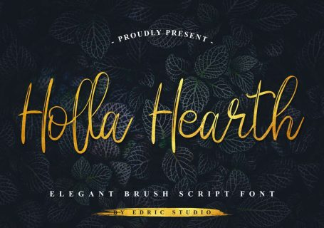 Typographie gratuite : Holla Hearth 1