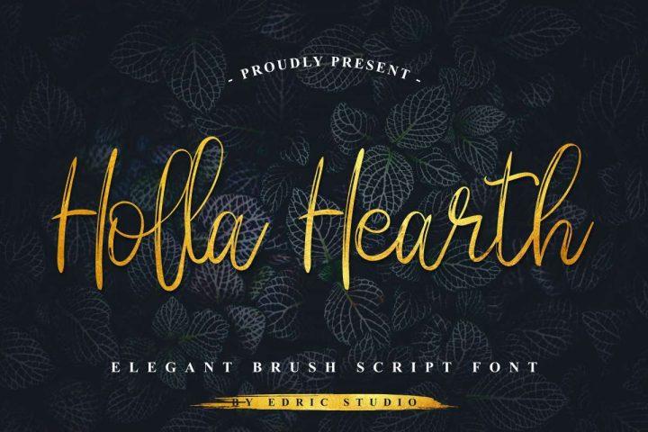 Typographie gratuite : Holla Hearth 2