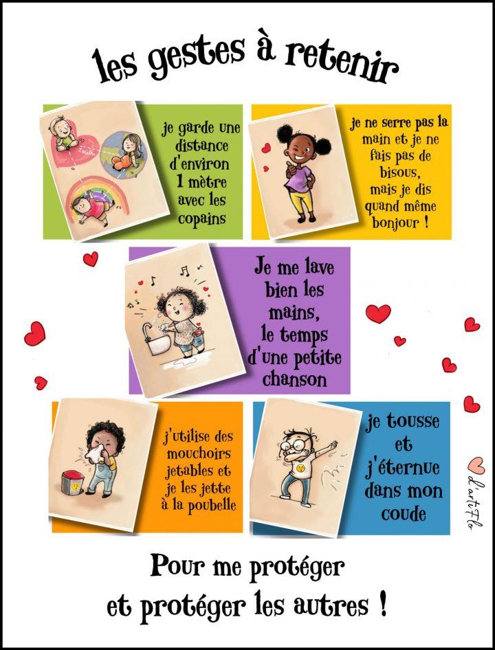 Illustrations pour les enfants et la reprise des cours 2