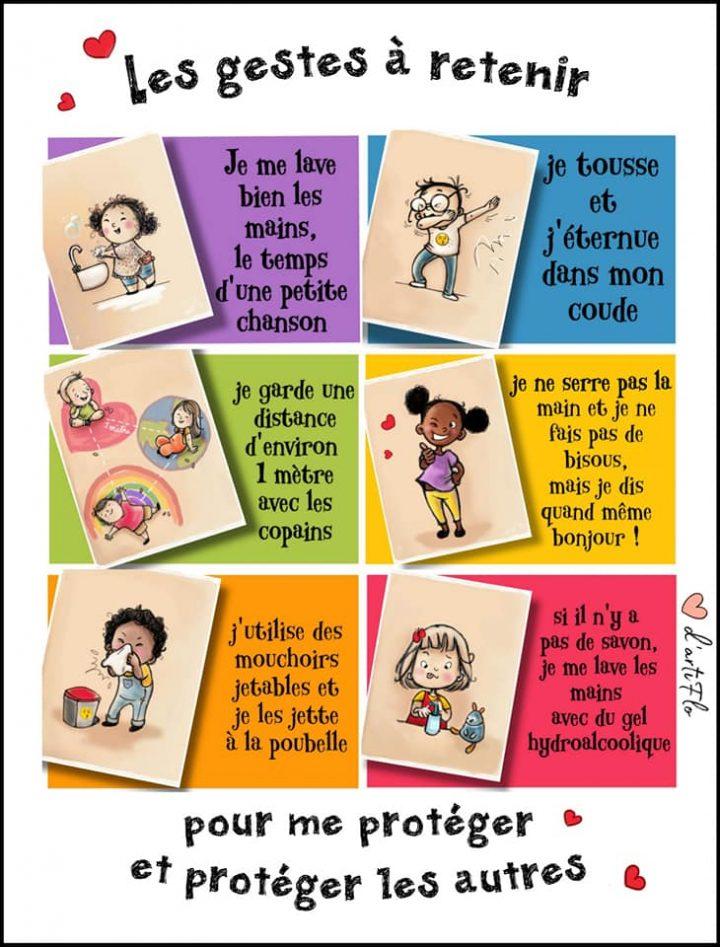 Illustrations pour les enfants et la reprise des cours 9