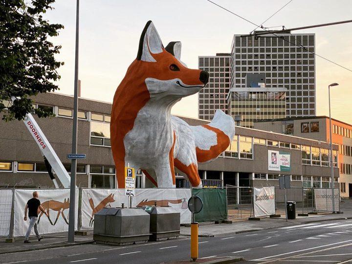 StreetArt - Renard Géant à Rotterdam par Florentijn Hofman 16