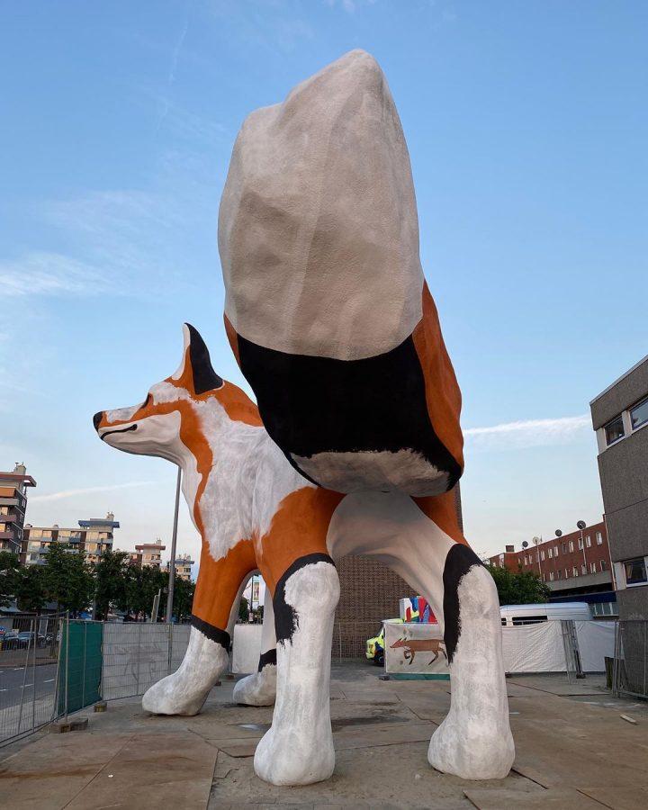 StreetArt - Renard Géant à Rotterdam par Florentijn Hofman 17