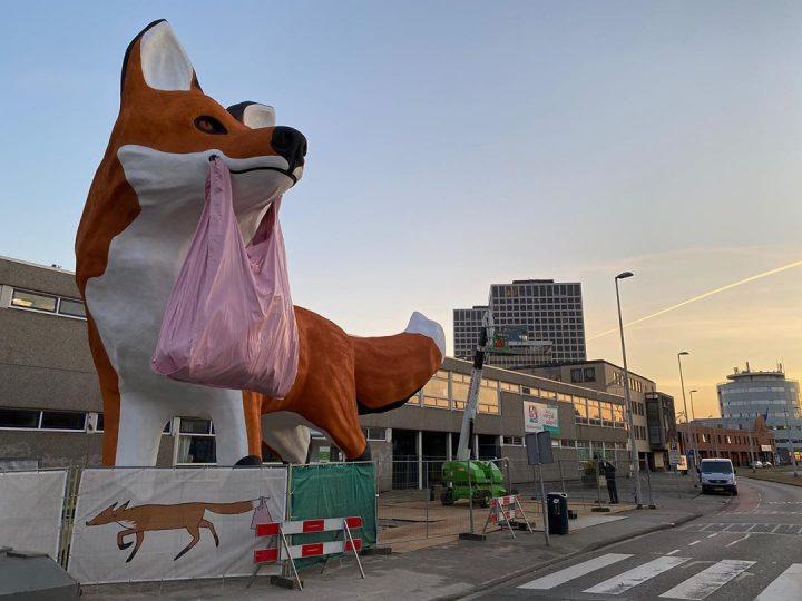 StreetArt - Renard Géant à Rotterdam par Florentijn Hofman 20