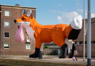 StreetArt - Renard Géant à Rotterdam par Florentijn Hofman 1