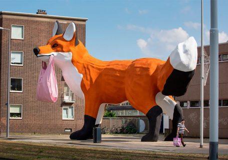 StreetArt - Renard Géant à Rotterdam par Florentijn Hofman 11