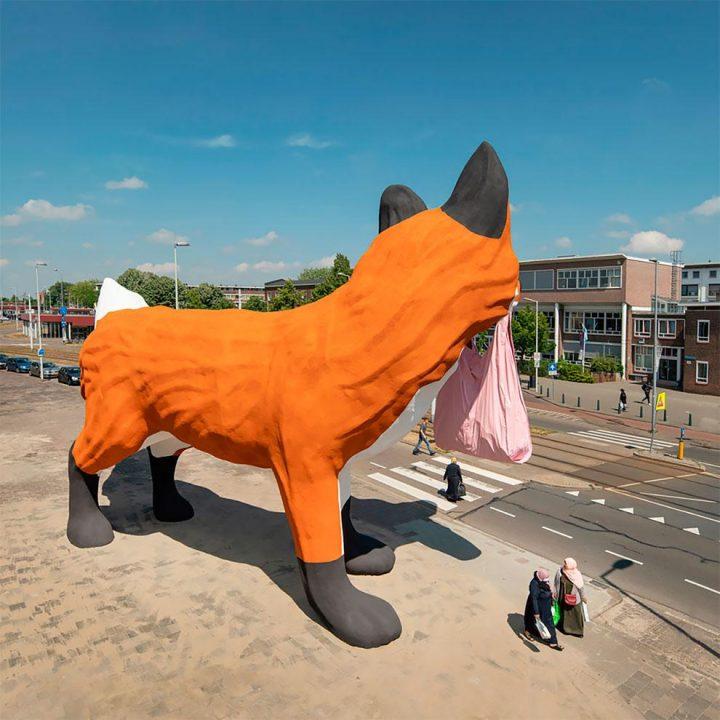 StreetArt - Renard Géant à Rotterdam par Florentijn Hofman 7