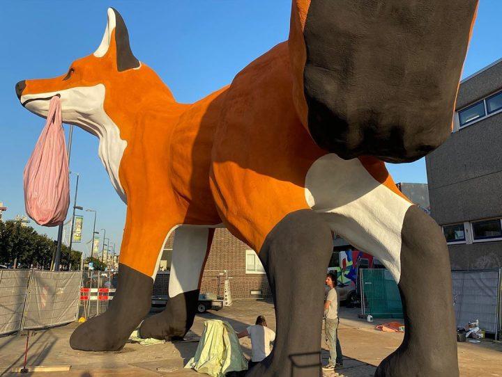 StreetArt - Renard Géant à Rotterdam par Florentijn Hofman 8