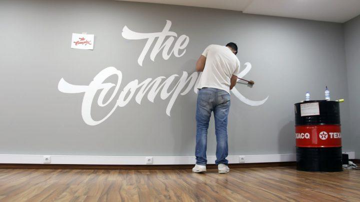 Vidéo d'un superbe Lettering Mural (Wall Painting) 3