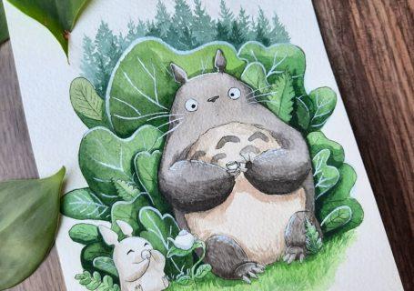 Des superbes peintures illustrant des personnages du Studio Ghibli